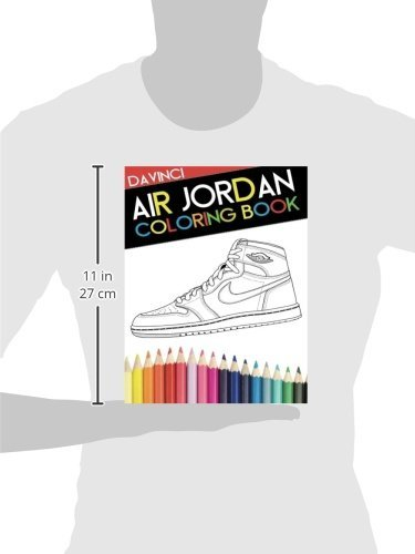 Air Jordan Coloring Book Sneaker Adult Davinci Narleyapps 9780692599457 Books