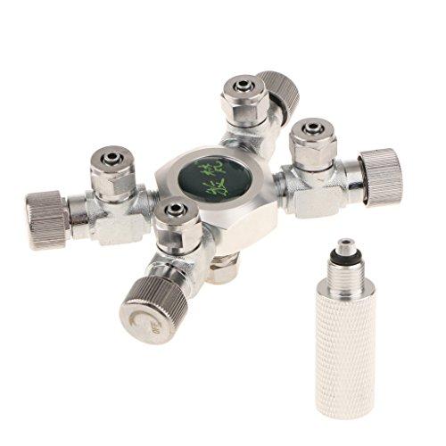 Baoblaze Four/Six Way CO2 Splitter Convertor Regulator Solenoid Needle Valve for Aquarium Live Tank - 4 Way