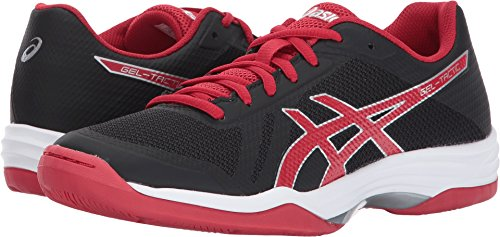 ASICS Women's Gel-Tactic 2 Volleyball Shoe, Black/Prime Red/Silver, 10 Medium US