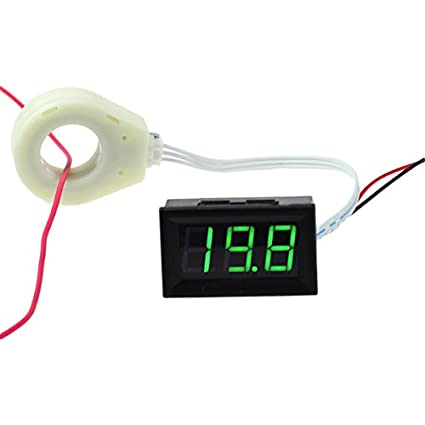 CrocSee DC 0-10A LCD Display Digital Current Ammeter Amp Meter Amperage Monitor Gauge Round Pannel