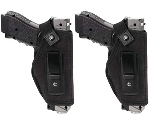 (TACwolf 2 Pack Universal IWB Holster Inside Waistband Fits all firearms S&W M&P Shield 9/40 1911 Taurus PT111 G2 Sig Sauer Glock 17 19 26 27 42 43 Springfield XD XDS)