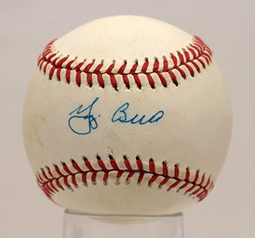 YOGI BERRA YANKEES SIGNED AUTOGRAPHED OAL BASEBALL BALL PSA/DNA #AE93593 (Ball Oal Baseball)