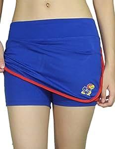 Womens KANSAS JAYHAWKS Athletic Yoga / Fitness Skort (Skirt / Shorts) L WomensBlue
