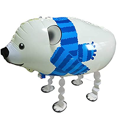 Walking Animal Balloons Polar Bear Balloon Air Walkers, Kids Farm Animal Theme Birthday Party Supplies Birthday Decorations: Toys & Games