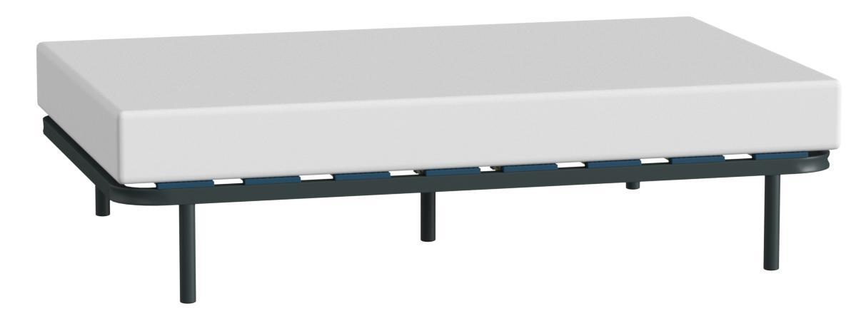 HOGAR24 ES Somier Multiláminas con Reguladores Lumbares, 120x190 cm (5 Patas de 32 cm Incluidas)