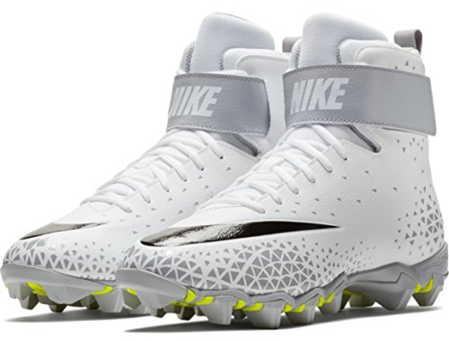 1e358fef6 NIKE Men s Force Savage Shark Football Cleat - White Black-Wolf Grey -  880109