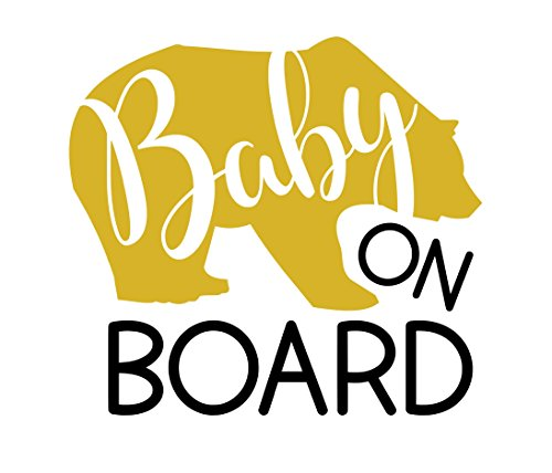 Baby Bear on Board Sticker for Cars, Baby Bear Decals, Baby Bear on Board Sign, You Pick Color, 5.5x5