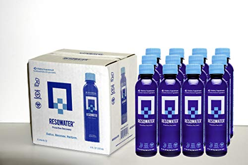 RESQWATER Proactive Recovery Enhanced Recovery Drink 8 Ounce (12 Pack) Celebration and Exercise Recovery Liver Support and Electrolytes (Best Drinks In New Orleans)
