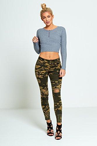 Khaki Momo Fashions Jeans amp;ayat Donna IgZIp