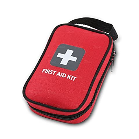 First Aid Kit – 100 Pieces – Bag. Packed with hospital grade medical supplies for emergency and survival situations. Ideal for the Car, Camping, Hiking, Travel, Office, Sports, Pets, Hunting, - First Aid Dressing Medicine