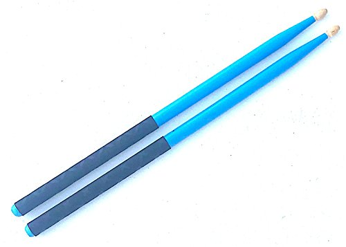 GRIP STIX 15'' Long Blue w/Black Non-Slip Grip Drumsticks - Ideal for Cardio Fitness, Pound Fit, Aerobic & Workout Exercises by GRIP STIX