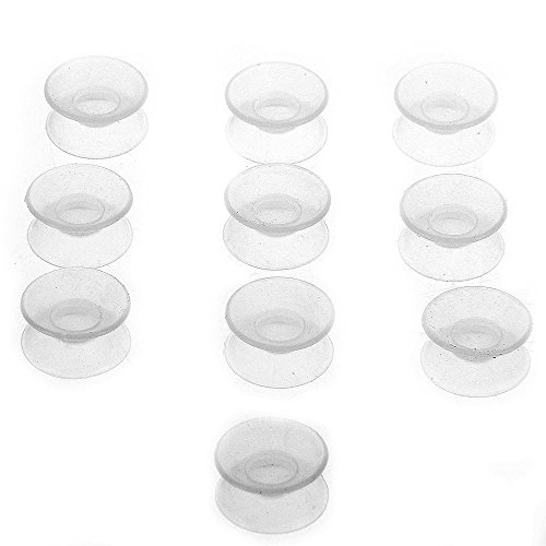10x Silicone Double Sided Suction Cups for Glass Coffee Table Fish Tank Aquarium