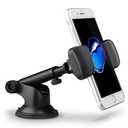 Handyhalterung Auto,TechRise KFZ Handyhalter Halterung Auto Sicher Halter Universal mit Kugelgelenk 360° drehbar für iPhone 7 / 7 PLUS / 6 / 6S Plus / 5 / Samsung S7 / S6 / S6 Eage / Note 4 / 3 usw
