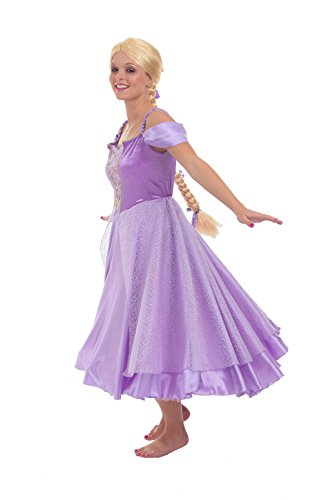 Princess Paradise Women's Tower Deluxe Costume Dress, Purple, Large