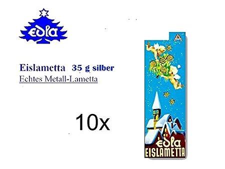Stanniol - Lametta argento pesante 5 raccoglitori da 35 g = 175 g EDLA