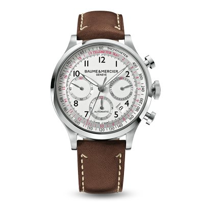 Baume-Mercier-Mens-10000-Capeland-Silver-Chronograph-Dial-Watch