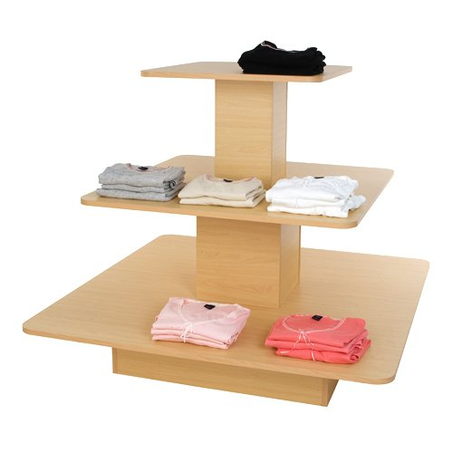 3-Tier Square Merchandising Display Table, ()