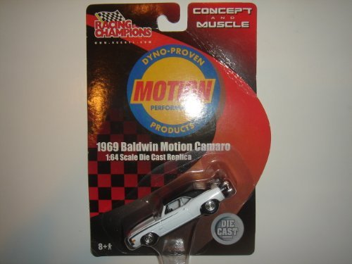Motion 1969 Baldwin Camaro (2001 Racing Champions 1:64 Concept And Muscle 1969 Baldwin Motion Camaro White/Black Roof)