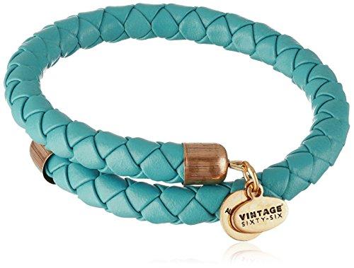 """Alex Ani """"Coastal Odyssey"""" Braided Leather Wrap Bracelet"""