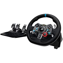 Logitech Dual-Motor Feedback Driving Force G29 Gaming Racing Wheel with Responsive Pedals for PlayStation 4 and PlayStation 3, Black