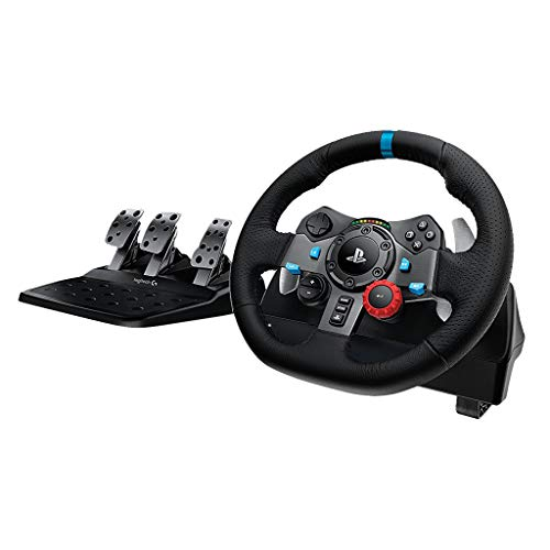 Corsa Steering Wheel - Logitech Dual-motor Feedback Driving Force G29 Gaming Racing Wheel with Responsive Pedals for PlayStation 4 and PlayStation 3
