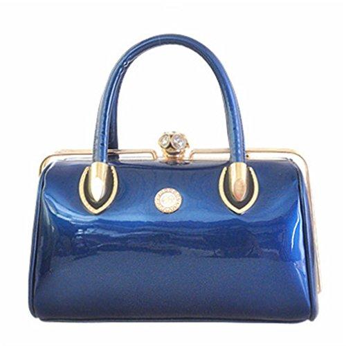 Tote blue Evening Ladies Women Wedding Bag Fashion amp;OS Bride ZJ Bag Crystal Handbag Bag horizontal 1wqzTY6