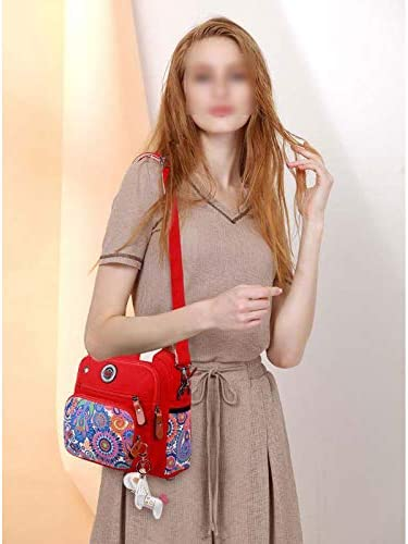 ZTBG Canvas Multi-Function Large-Capacity Portable Messenger Mummy Bag Out of The Mother Bag Fashion Shoulder Bag