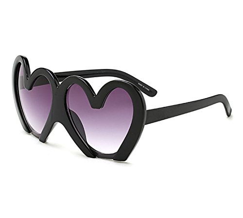 Love personality sunglasses super men and women trend big face color film reflective sunglasses (Black color, - Glasses Trend Big Black