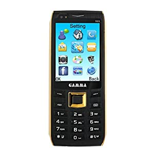 Gamma S11 2.8 Inch Big Screen Unlocked Cell Phone - 2200Mah Big Battery Long time Standby, Speed Dial, Bluetooth, Dual-SIM GSM Quad-Bands Worldwide Cell Phone (Black)