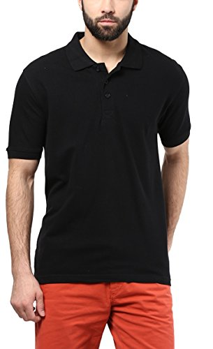 American Crew Men's Solids Polo (Black)