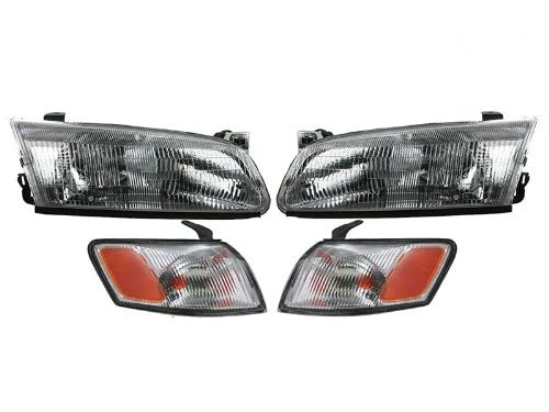 Toyota Camry 97 98 99 Head And Corner Light With Bulbs 4 Piece Combination Set Auto Parts Avenue