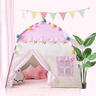 Ridecle Kids Play Tent,Princess Castle Tent Large Playhouse Kids Castle Play Tent 1-6 Years Children Indoor Toy House Kids Pop Up Tent for Girls Birthday Gift 51.239.551.2in: Home & Kitchen