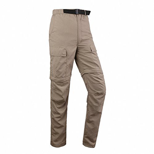 Quick Dry Pants, ADiPROD Women's Water Repellent Lightweight Convertible Cargo Shorts Hiking Camping Pants Outdoor Sports (L, Khaki)