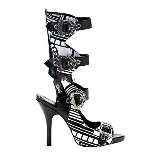 Demonia Zombie-106UV - UV-reaktive gothique cyber punk bottes chaussures femmes 36-43