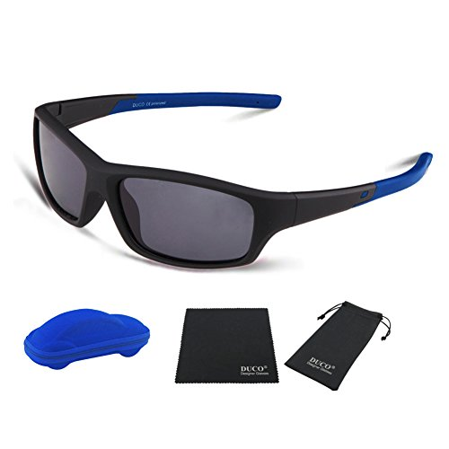 c2ec07acaa DUCO Kids Sports Style Polarized Sunglasses Flexible Frame For Boys and  Girls K006
