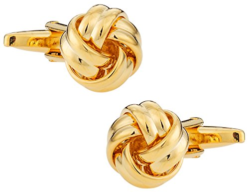 Cuff-Daddy Classic Woven Gold Knot Cufflinks with Presentation Box
