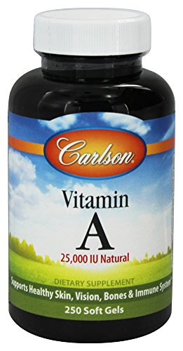 Carlson Labs Vitamin A Natural, 25000 IU