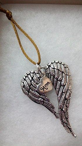Christmas Angel Glass - Mom Memorial Angel Wings Christmas Ornament In Memory Sympathy Bereavement Keepsake Gift