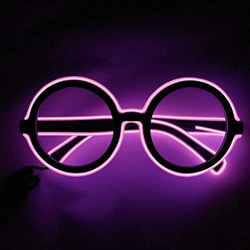 Glumes Glow in The Dark LED Glasses, 1 PCS Happy New Year Bulk Light Up Rave Glasses Halloween Neon Party Supplies Party Favors Shutter Shades Accessories and Costumes ()