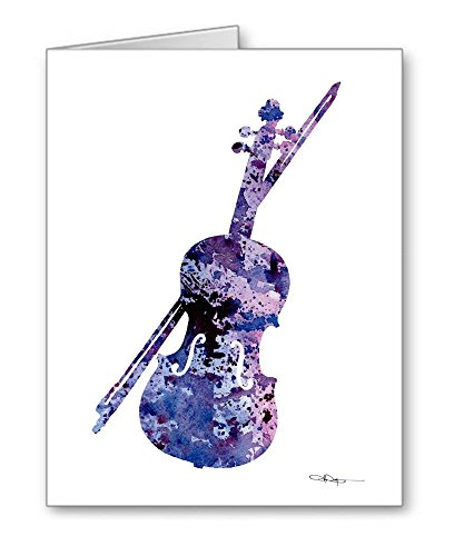 Violin - Set of 10 Note Cards With Envelopes ()