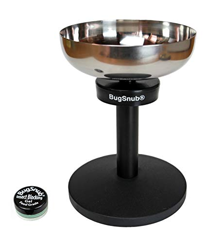 BugSnub Ant Proof Raised Pet Bowl for Cats and Small Dogs with Stainless Steel Dish (BSR1SM)
