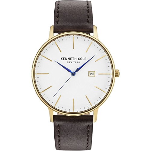 Kenneth Cole New York Men s Quartz Stainless Steel Case Leather Strap Stainless Steel Bracelet Casual Watch, Model KC15059005 07 02