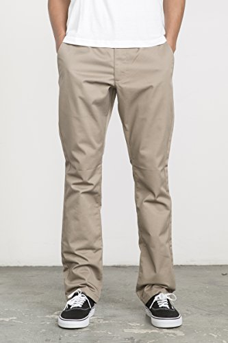 RVCA Men's Week-End Pant, Dark Khaki, - Street Dark Pants