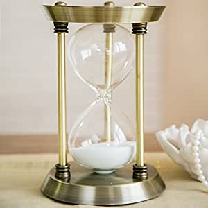 "European-style Hourglass Ornaments Sandglass Timer - 30 Minute Natural (S:Height:6.3""Width:3.94""Length:3.94"")"