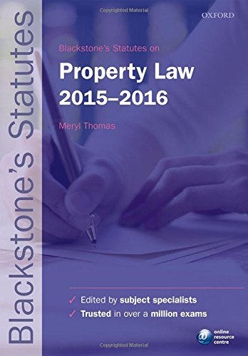 Blackstones Statutes On Property Law 2015 2016  Blackstones Statute Series