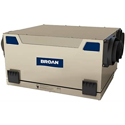 Broan HRV120S 115 CFM Heat Recovery Ventilator with Side Ports, N/A