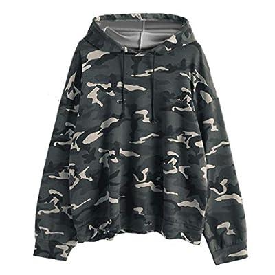 Women Camouflage Long Sleeve Hoodie Casual Autumn Winter Fashion Hooded Sweatshirts Tops