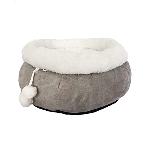Vesna market Pet Cat Dog House,Soft Winter Dogs Bed Puppy Cave,Warm Pet Bed,Pet Dog Products House,Cozy Pom Pom Cuddle Cave