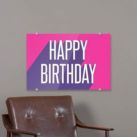 Inner CircleHappy Birthday -Disco -Square Window Cling CGSignLab 5-Pack | 12x12