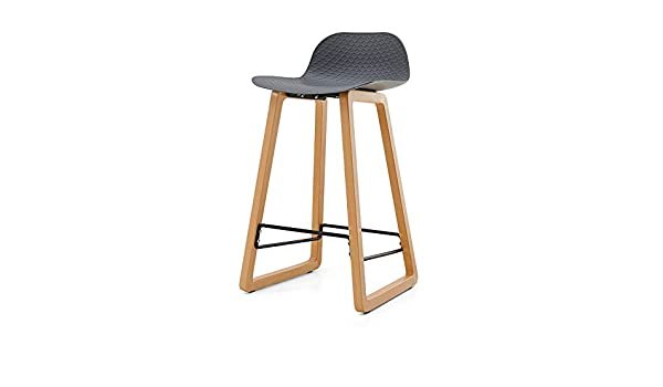 Amazon.com: LJHA ertongcanyi Bar Chair, bar Stool, Counter Chair, Kitchen, Breakfast bar Stool, Wooden Legs, Modern Style (Color : Gray, Size : 4469cm): ...